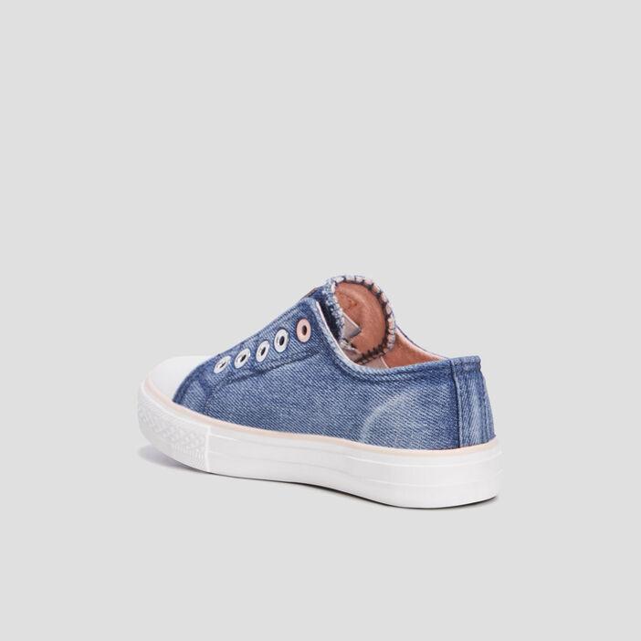 Baskets tennis fille bleu