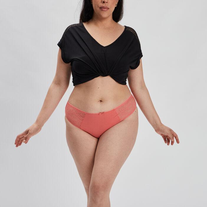 Culotte femme grande taille orange corail