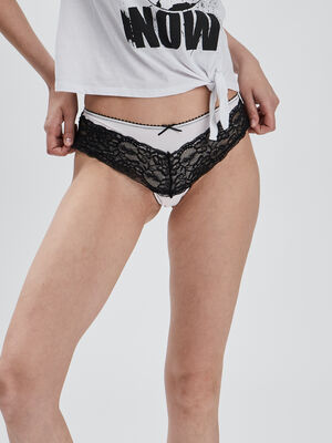 Boxer mix microdentelle rose femme