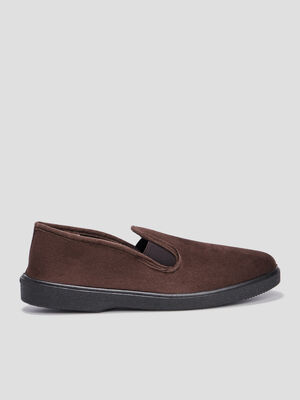 Chaussons marron homme