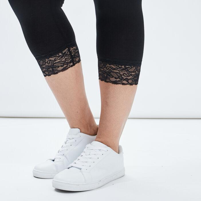 Leggings 7/8ème femme grande taille noir