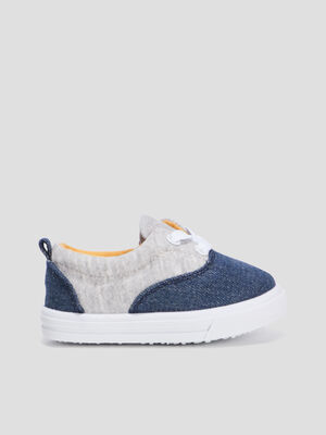 Baskets tennis zippees bleu bebeg