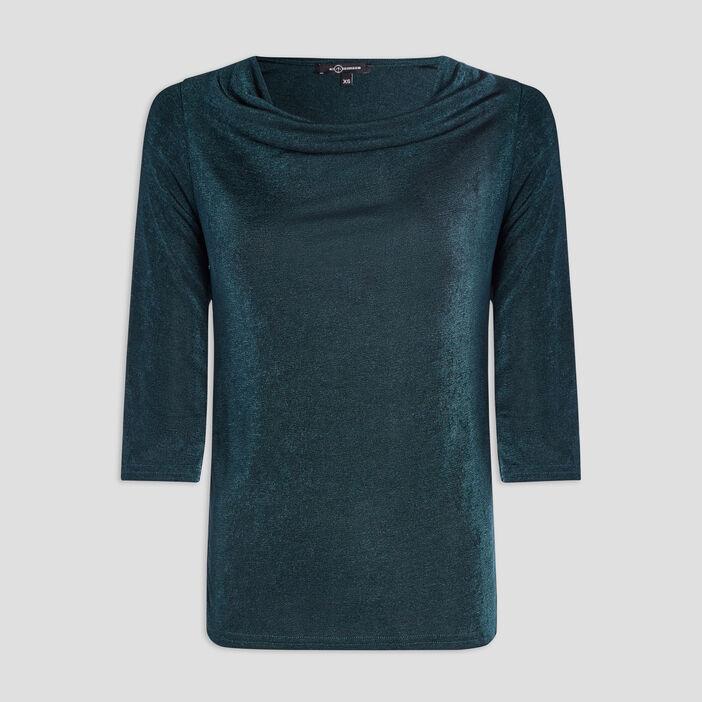 T-shirt manches 3/4 femme vert