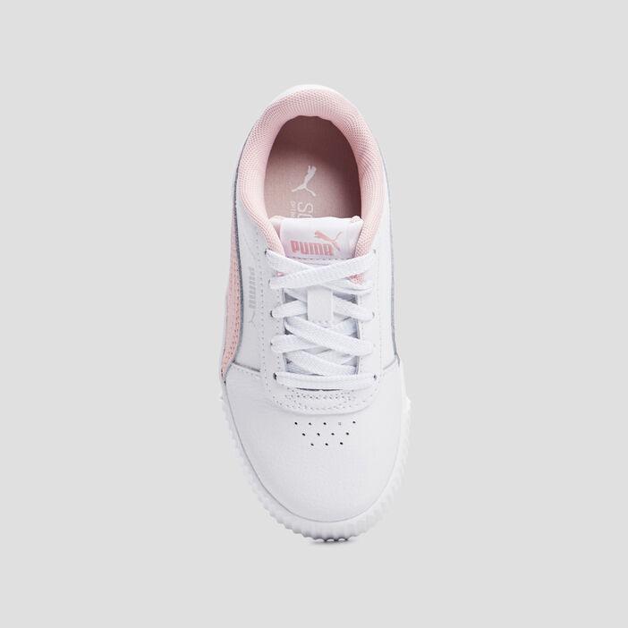Baskets tennis en cuir Puma fille blanc