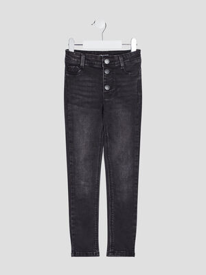 Jeans droit Liberto denim snow noir fille