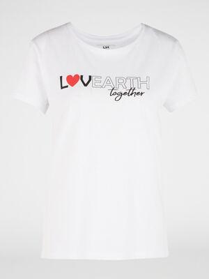T shirt halleavenir 100 coton bio rouge femme