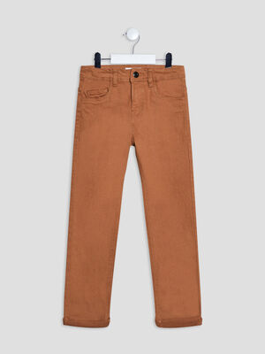 Pantalon regular camel garcon