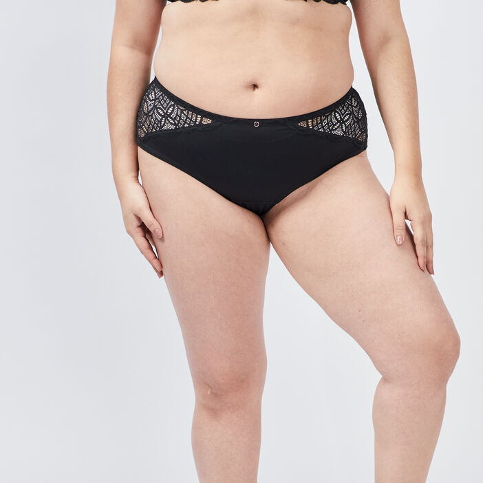 Boxer dentelle grande taille femme grande taille noir