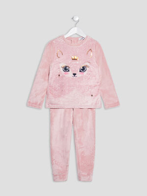 Ensemble pyjama 2 pieces rose fille