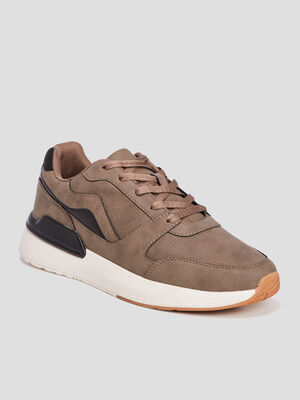 Runnings a lacets marron homme