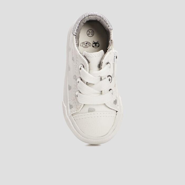 Tennis bébé fille blanc