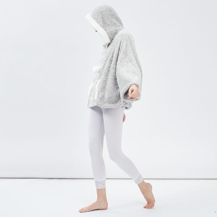Sweat de nuit à capuche femme gris