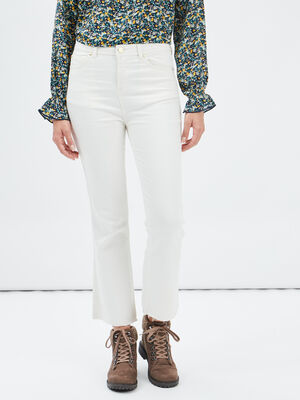 Pantalon flare Mosquito ecru femme