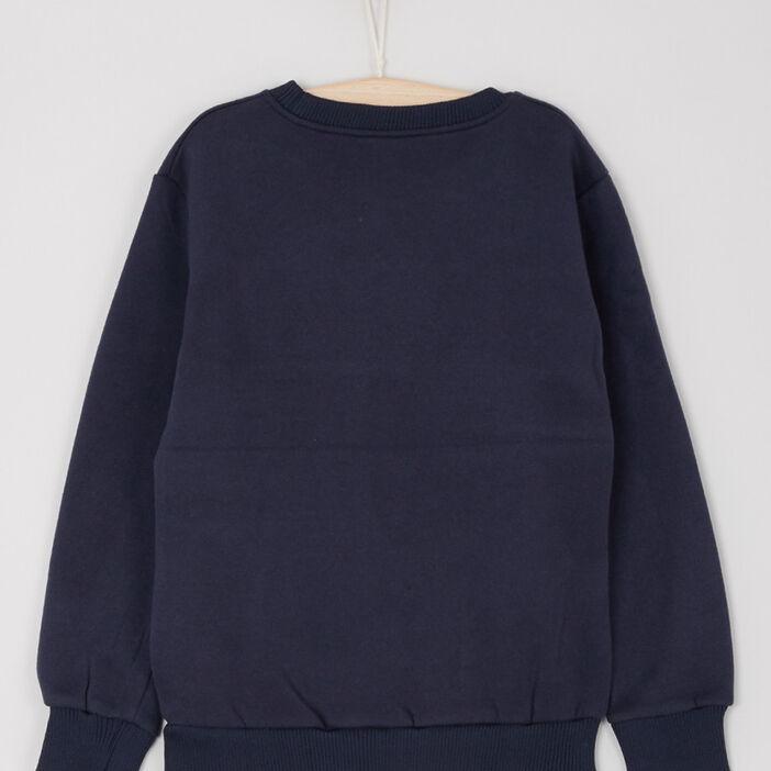 Sweatshirt garçon bleu marine