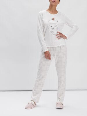 Ensemble pyjama 2 pieces rose clair femme
