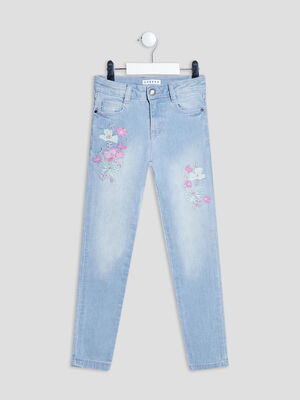 Jeans skinny Creeks denim triple stone fille