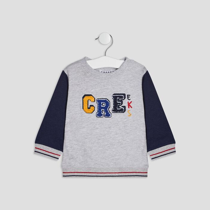 Sweat avec col rond Creeks bébé garçon gris