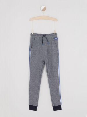 Pantalon de jogging bandes laterales bleu marine garcon