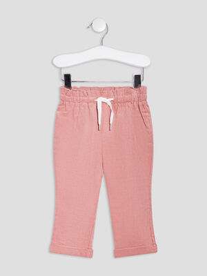 Pantalon droit rose bebef