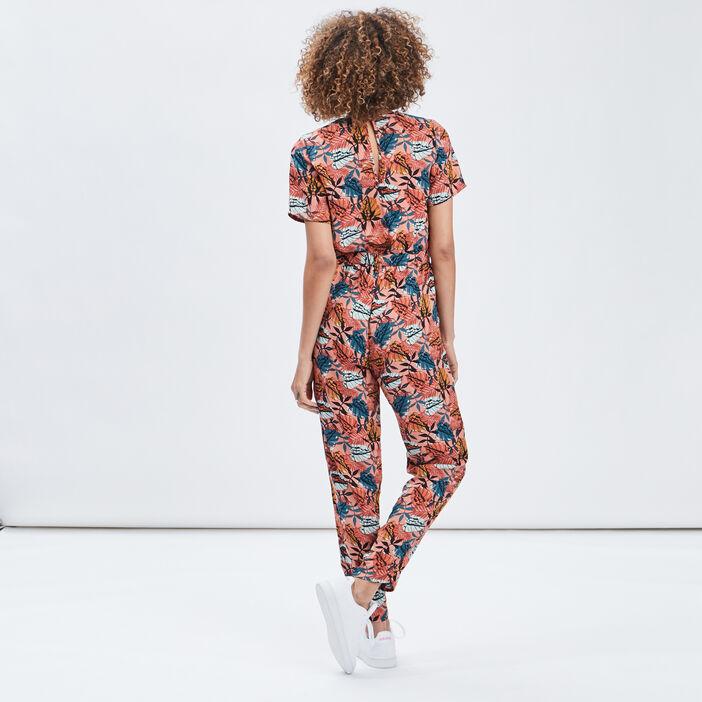 Combinaison pantalon fluide femme rose