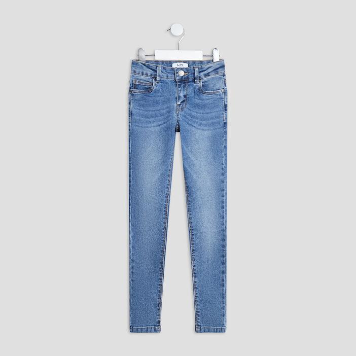 Jeans skinny effet délavé fille denim stone
