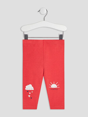Pantalon legging rouge bebef