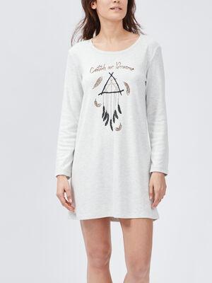 Chemise de nuit gris fonce femme