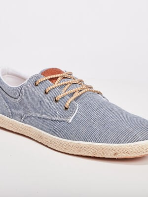 Tennis derbies a lacets bleu homme
