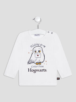 T shirt Harry Potter blanc bebef