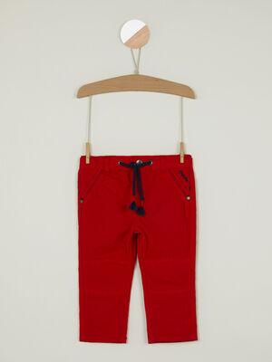 Pantalon esprit marin liens pompons rouge garcon