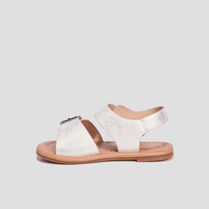 Sandales avec boucles fille couleur argent