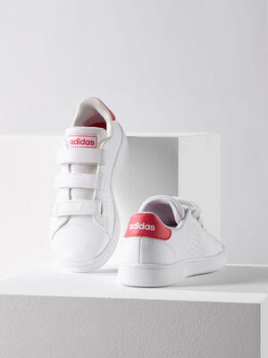 Tennis Adidas ADVANTAGE E blanc fille