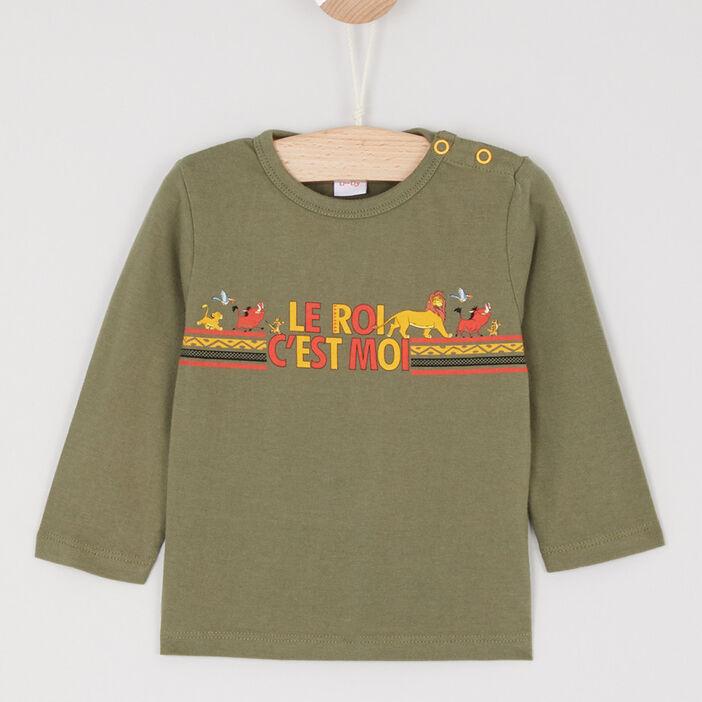 T-shirt manches longues garçon vert kaki
