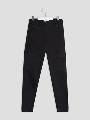 Pantalon battle noir garcon