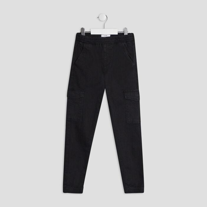 Pantalon battle garçon noir