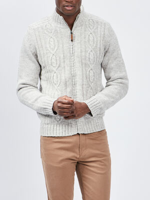 Gilet double a col montant beige homme