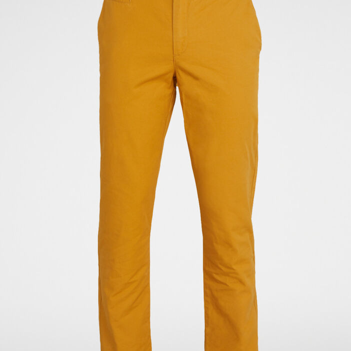 Pantalon droit uni homme jaune