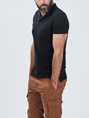 Polo manches courtes noir homme