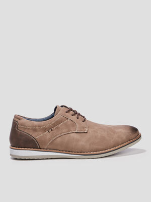 Derbies a lacets beige homme