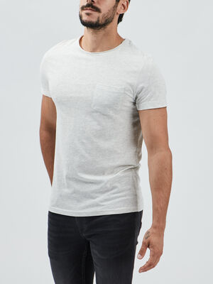 T shirt manches courtes ecru homme