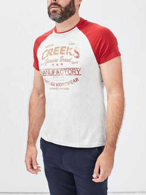 T shirt manches courtes Creeks bordeaux homme