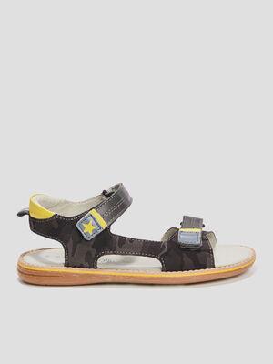 Sandales en cuir Creeks gris garcon