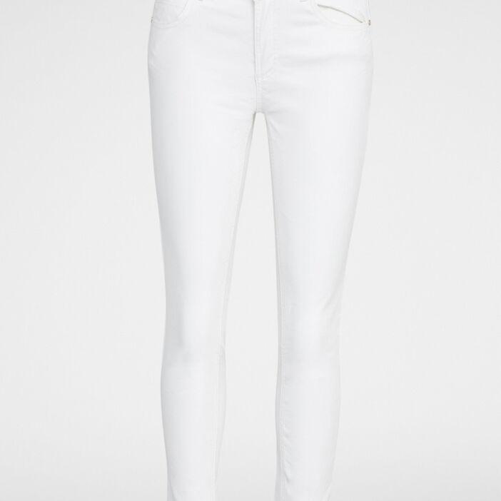 Pantalon uni7/8ème coupe slim femme ecru