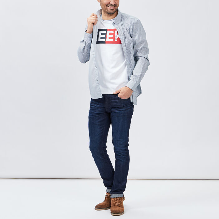 T-shirt manches courtes Creeks homme blanc