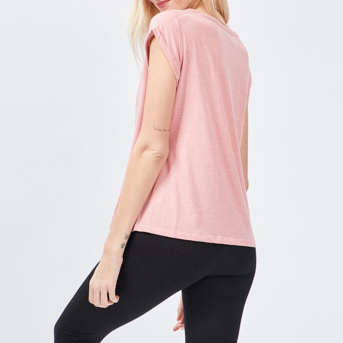 Haut de pyjama Liberto femme rose clair