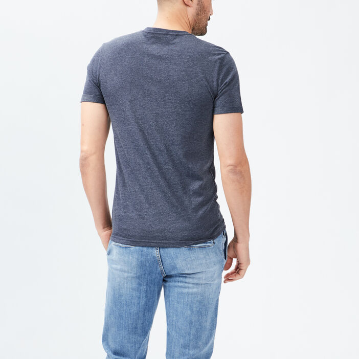 T-shirt Trappeur homme bleu