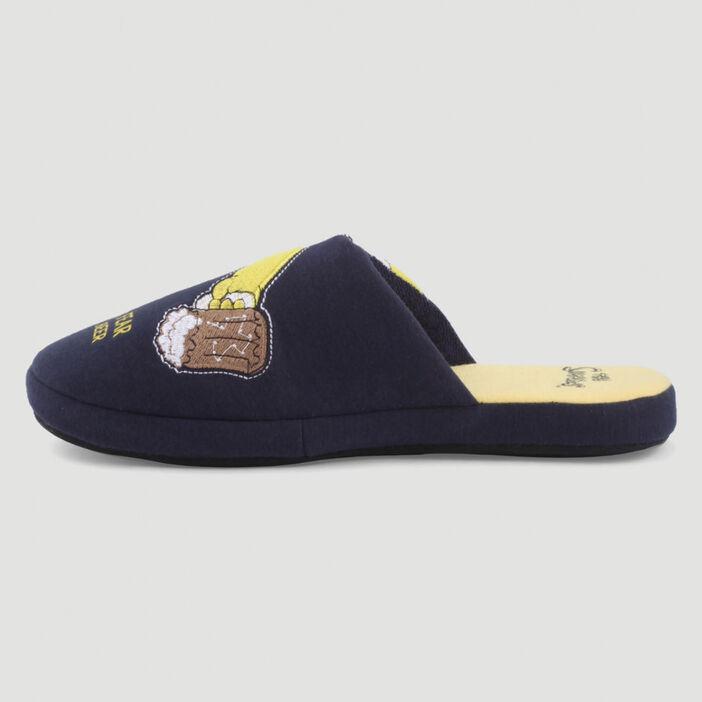 Chaussons Simpsons type mules mixte bleu marine
