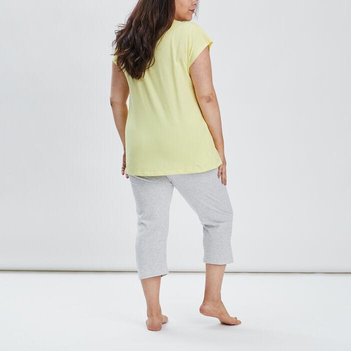Ensemble pyjama grande taille femme grande taille jaune