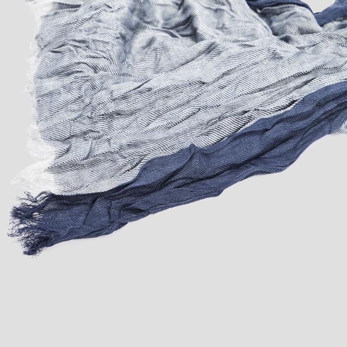 Foulard effet froissé mixte bleu marine