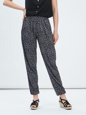 Pantalon droit fluide gris fonce femme
